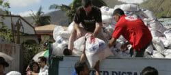 Craig Arnold delivers relief supplies.